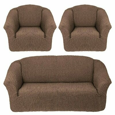 Комплект чехлов на 3-местный диван +2 кресла без оборок