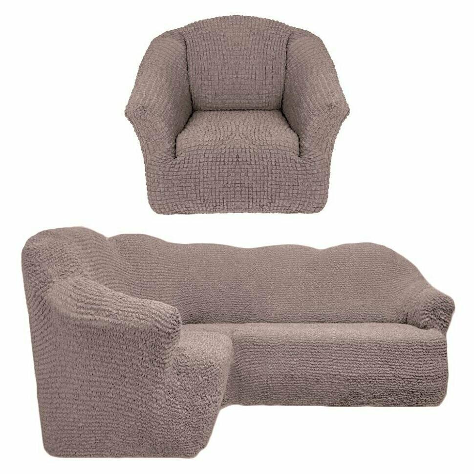 На угловой диван +кресло без оборок