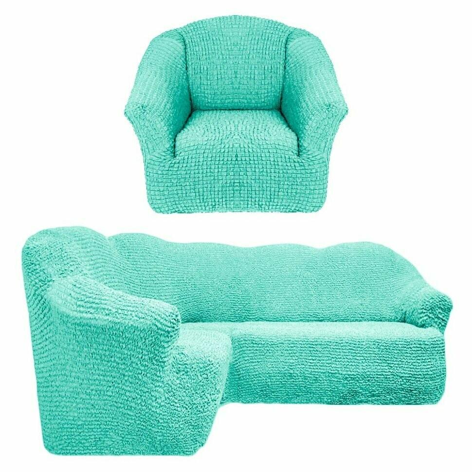 На угловой диван+кресло