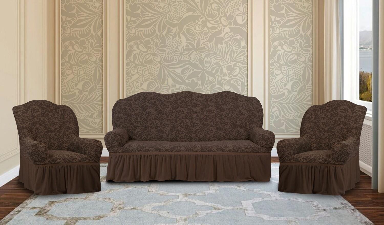 На трехместный диван +2 кресла