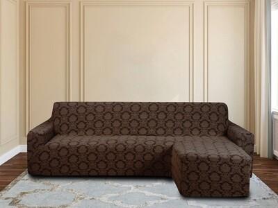 Чехол на угловой диван с оттоманкой правый угол,без оборки