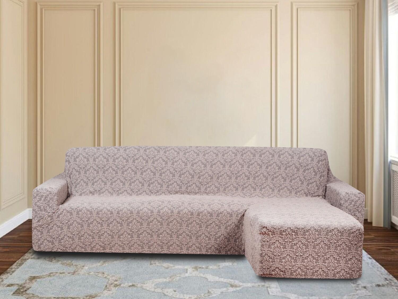 Чехол на угловой диван с оттоманкой правый угол
