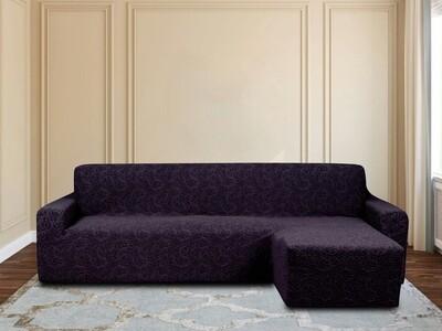 Чехлы на угловой диван с оттоманкой правый угол