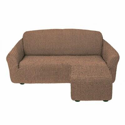 Чехол на угловой диван с оттоманкой