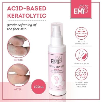 Acid-Based Keratolytic – Rough Skin Softener based on acids: citric, tartaric and lactic, 30 or 100 ml