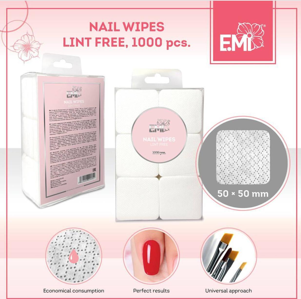 Nail Wipes Lint Free, 1000 pcs