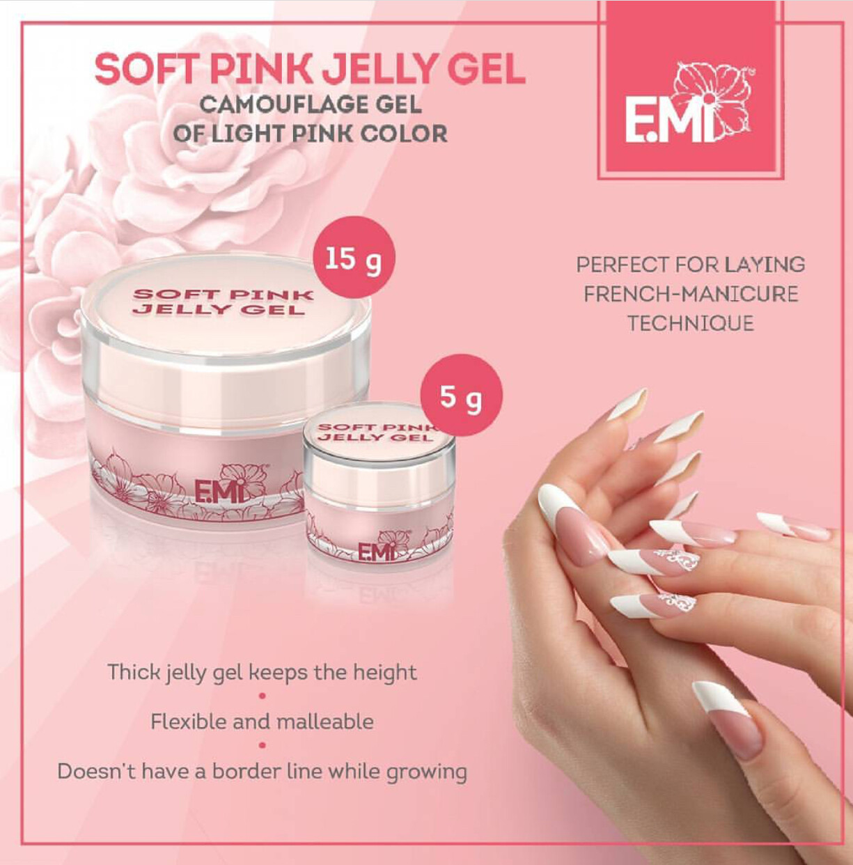 Soft Pink Jelly Gel, 5/15/50/100 g.