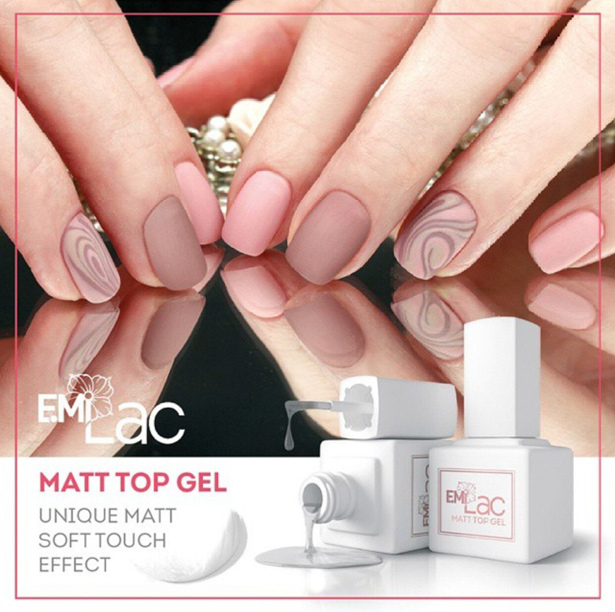 E.MiLac Matt Top gel, 9 ml.