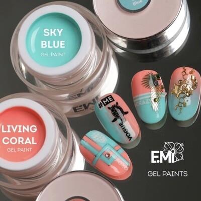 Set Living Coral and sky blue, 5 ml.