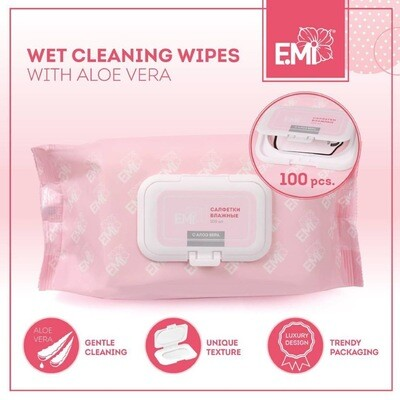Wet Cleaning Wipes E.Mi, 100 pcs