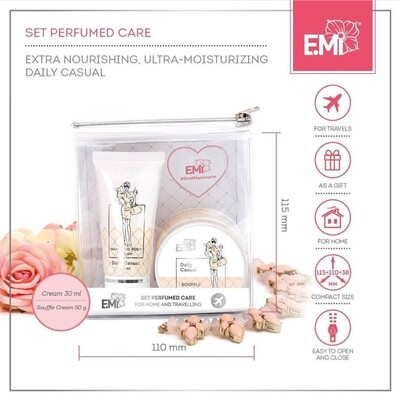 Set Perfumed Care. Extra-Nourishment and Ultra-Moisturizing Daily Casual