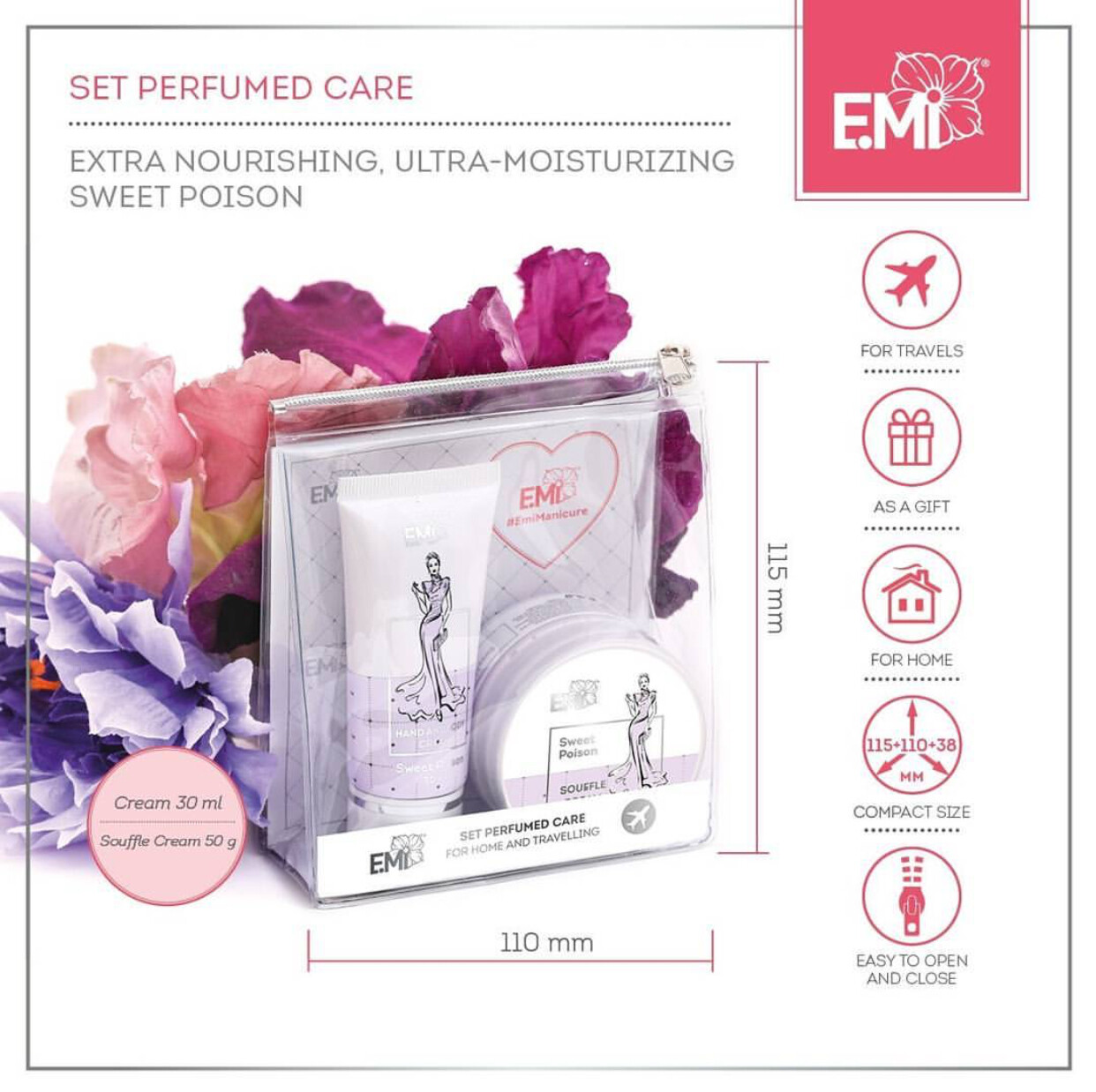 Set Perfumed Care. Extra-Nourishment and Ultra-Moisturizing Sweet Poison