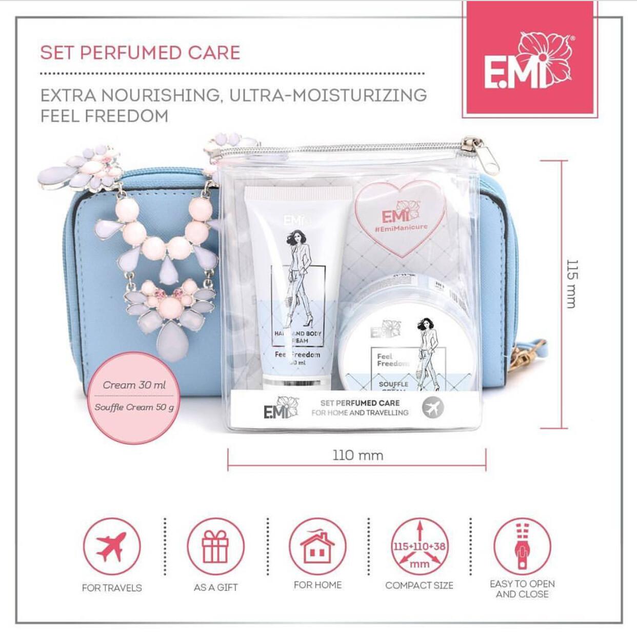 Set Perfumed Care. Extra-Nourishment and Ultra-Moisturizing Feel Freedom