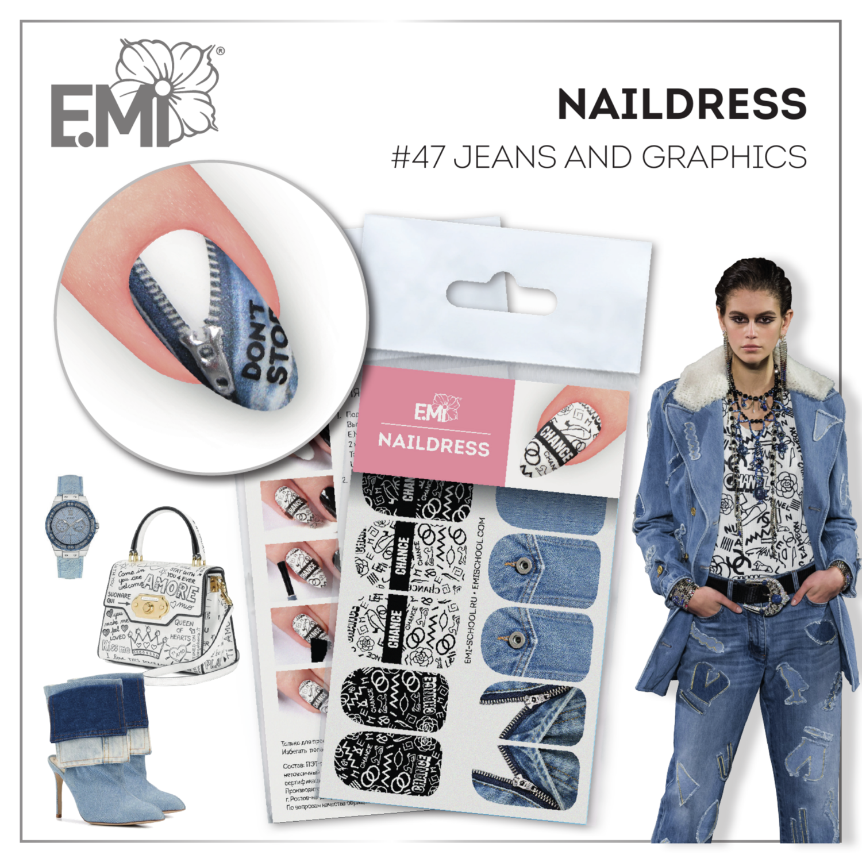 Naildress Slider Design #47 Jeans and Graphics