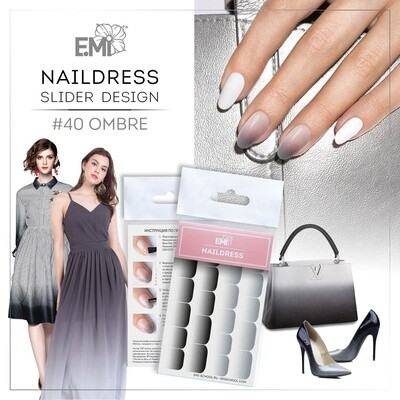 Naildress Slider Design #40 Ombre