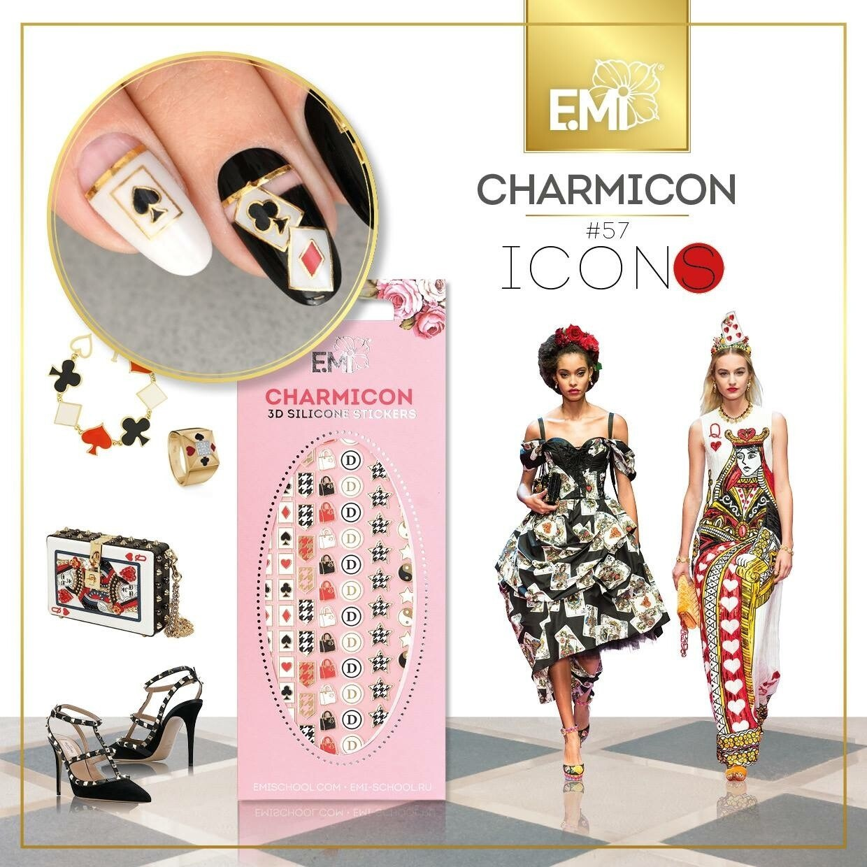 Charmicon Silicone Stickers #57 Icons