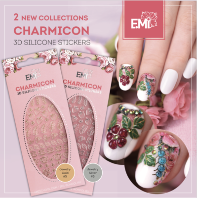 Charmicon Silicone Stickers Jewelry Gold/Silver #5
