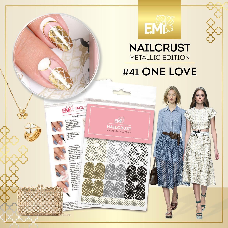 NAILCRUST Pattern Sliders #41 One Love