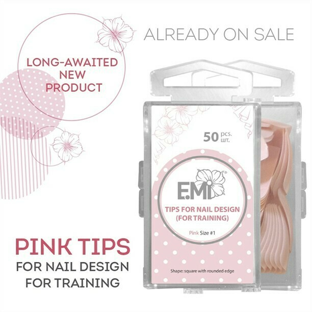 Pink Tips for Nail Design (for training)