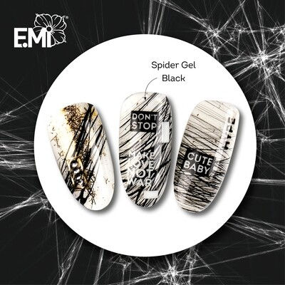 Spider Gel, black 5 ml.