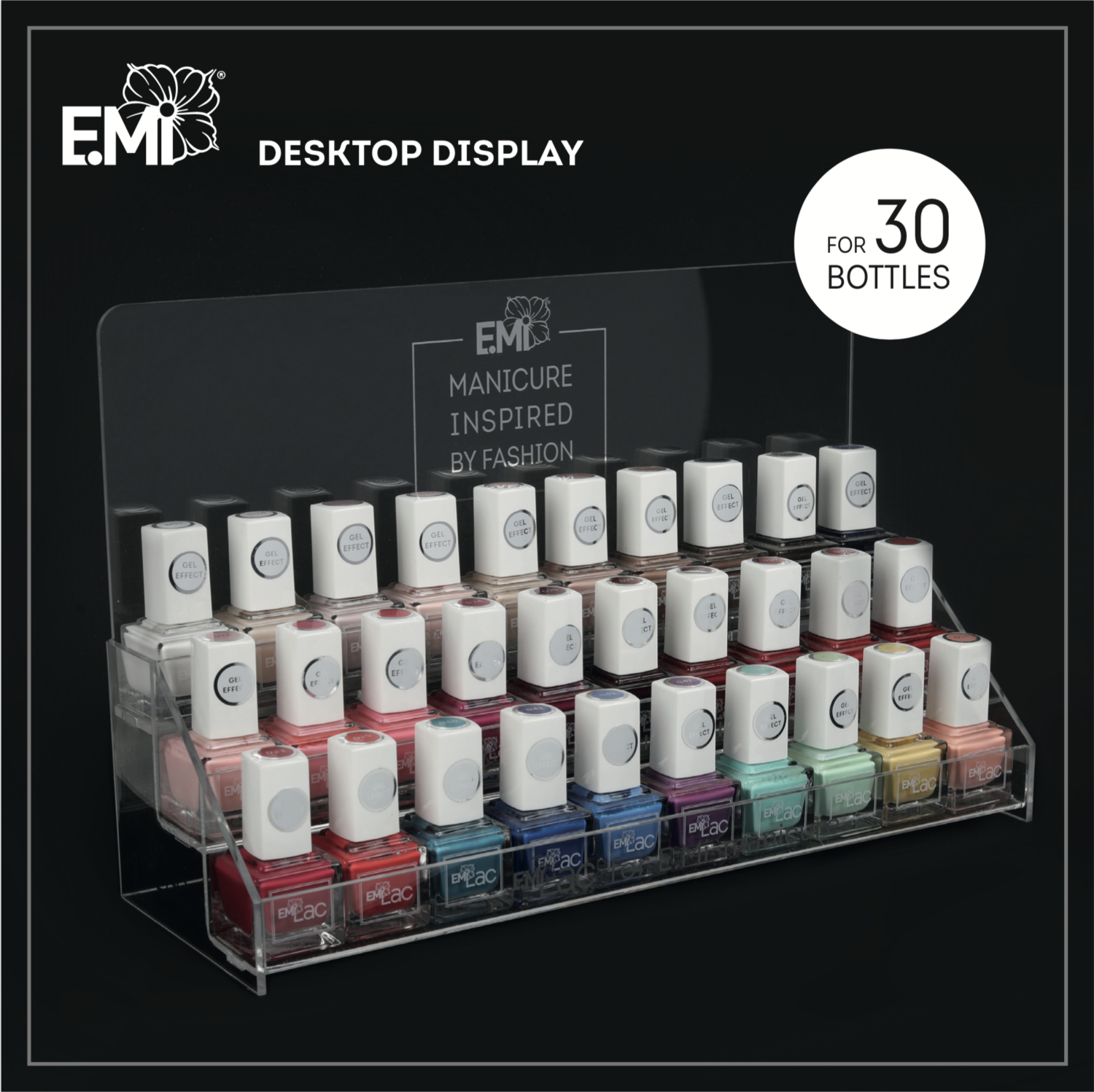 Display for 30x E.MiLac colors