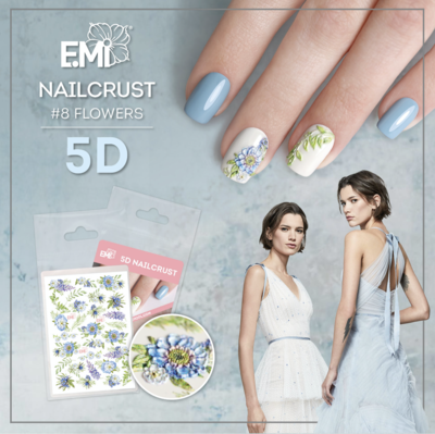 Nailcrust 5D #8 Flowers