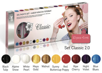 Gel paints set Classic