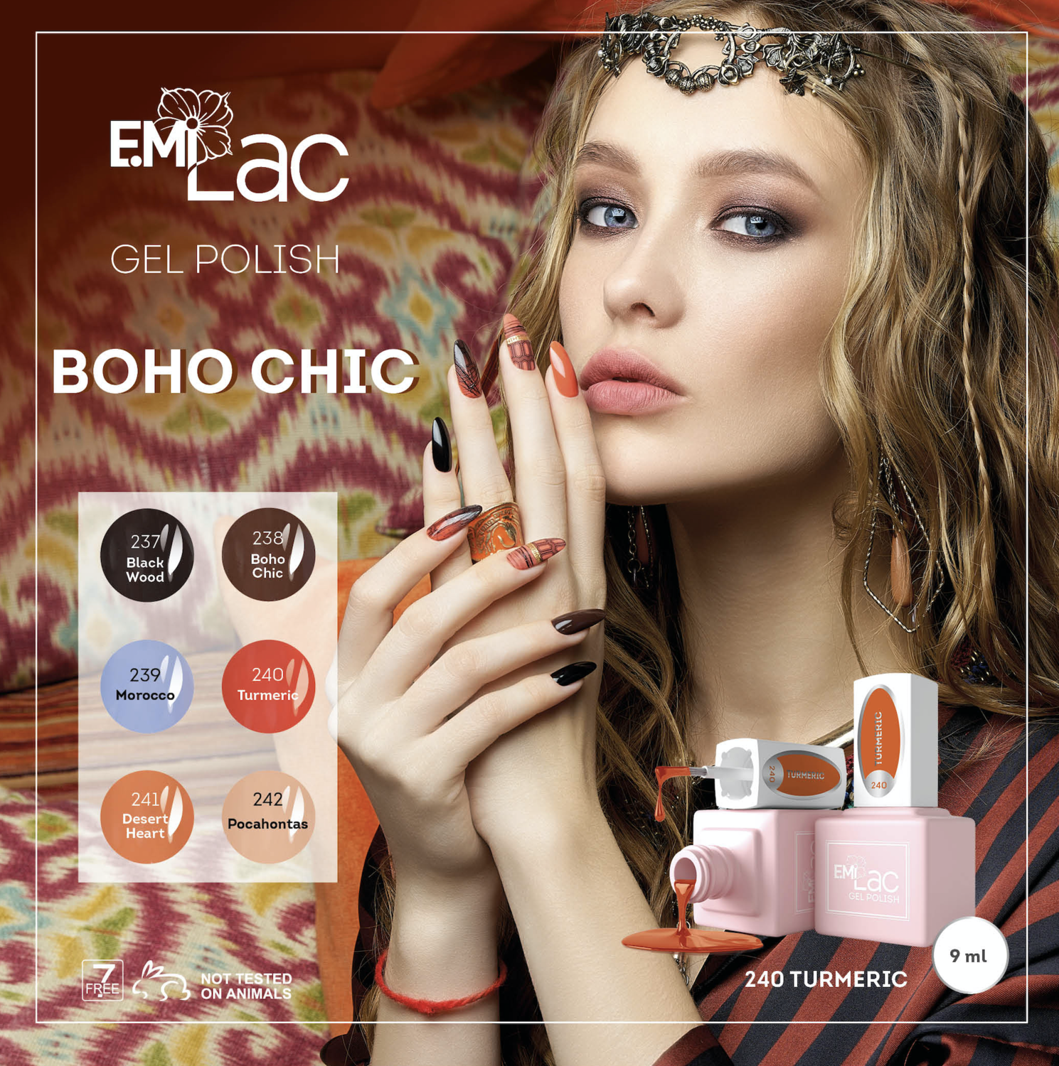 Set E.MiLac Boho Chic collection 9 ml.