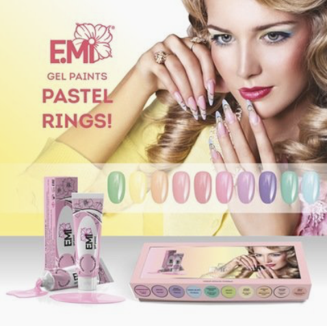 Gel paints set Pastel Rings!
