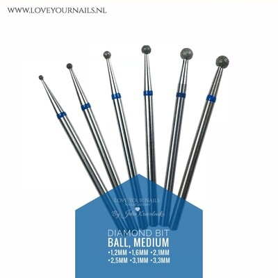 Medium Diamond Drill Bit - Ball -Hard Skin Clean Up