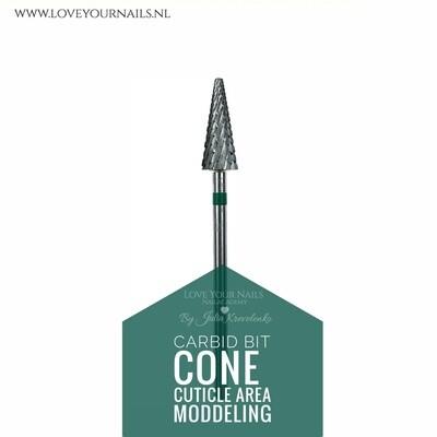 Carbid cone for cuticle area - medium