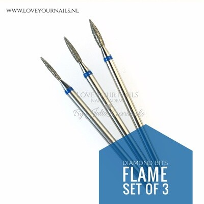Diamond set of flame bits