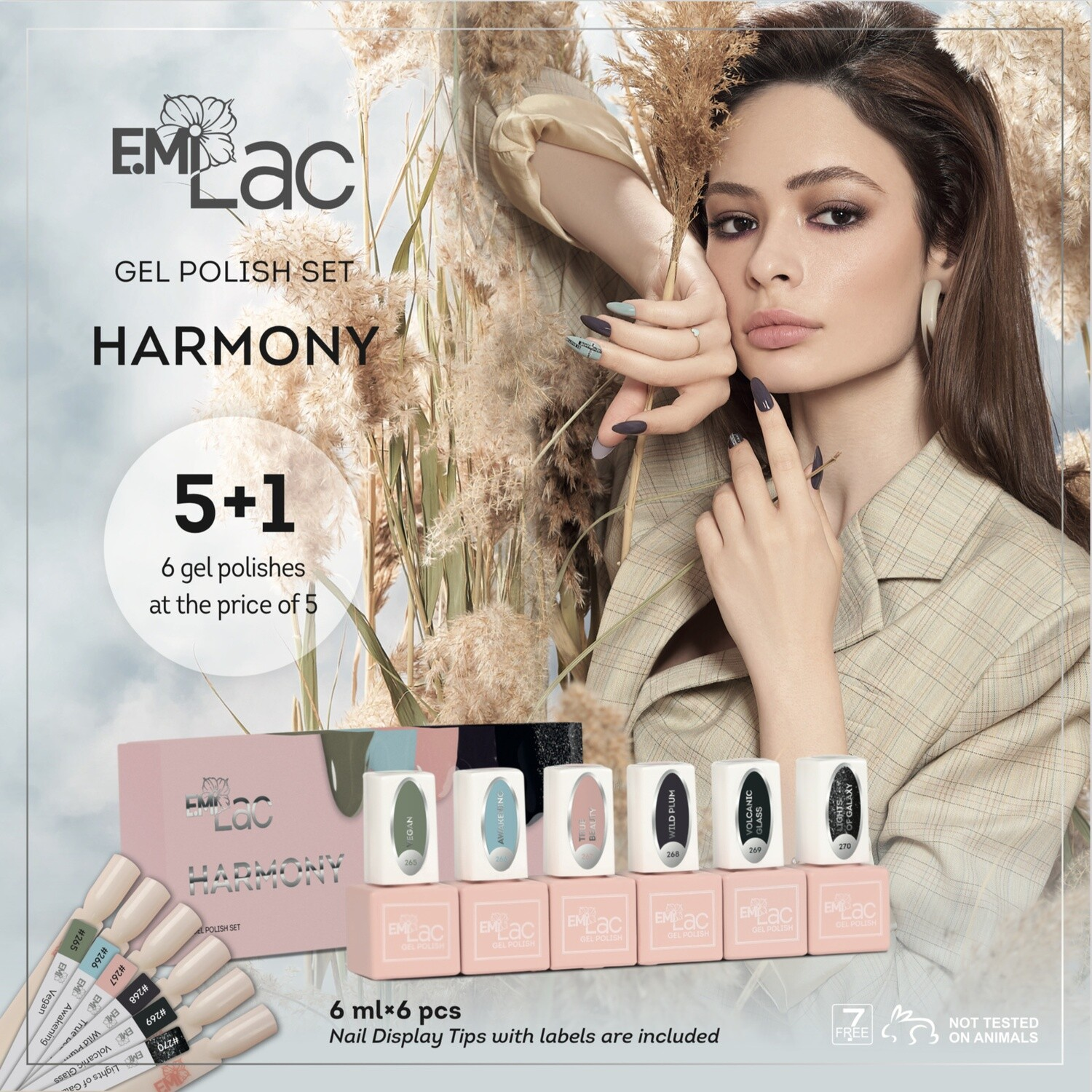 E.MiLac Set Harmony, 6 ml.