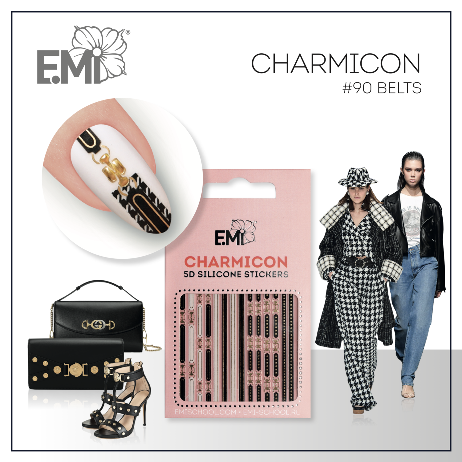 Charmicon Silicone Stickers #90 Belts
