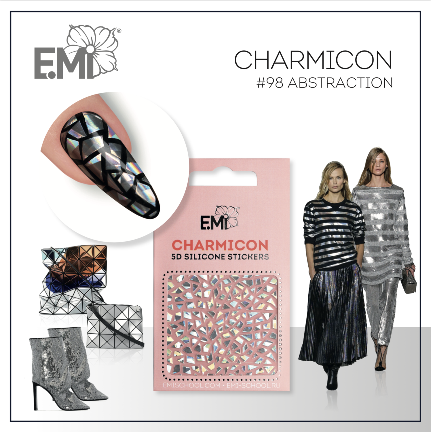 Charmicon Silicone Stickers #98 Abstraction