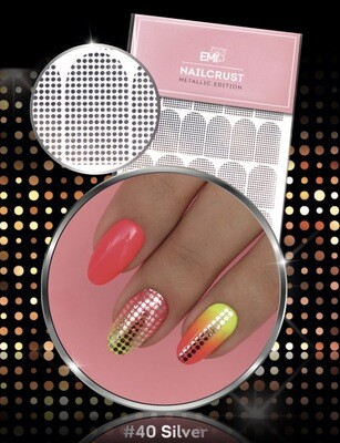 NAILCRUST Pattern Sliders #40 Disco SILVER