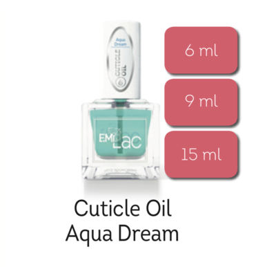 E.MiLac Cuticle Oil Aqua Dream, 6/9/15 ml.