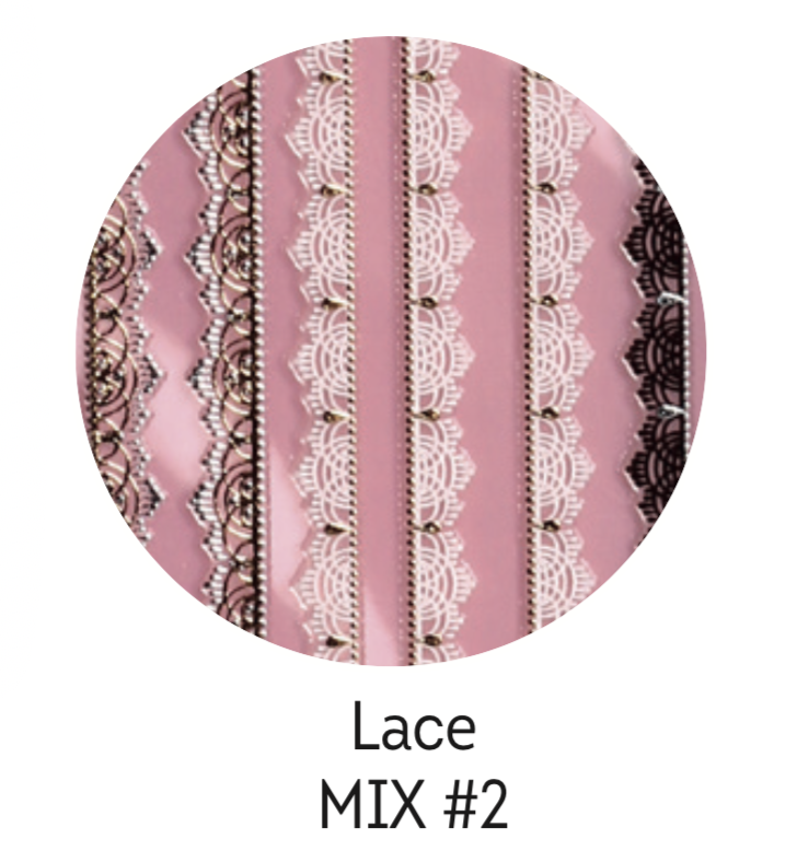Charmicon Silicone Stickers Lace MIX #2
