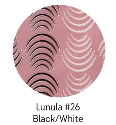 Charmicon Silicone Stickers Lunula #26 Black/White