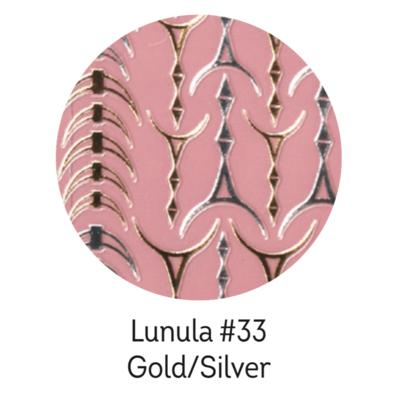 Charmicon Silicone Stickers Lunula #33 Gold/Silver