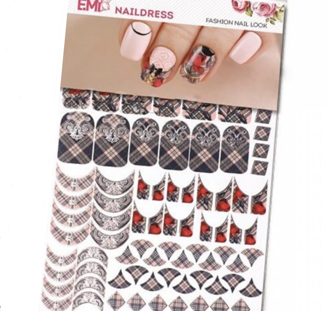 Naildress Slider Design Smoky Check