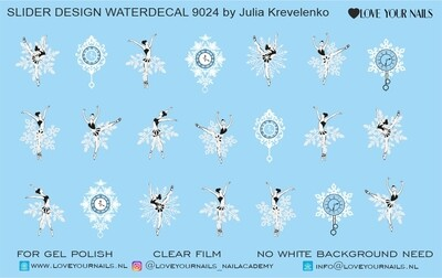 Ballerina and snowflakes 9024