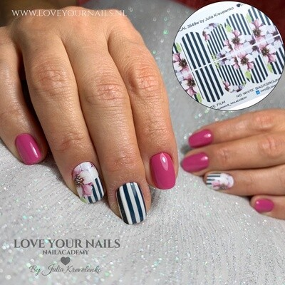 Flowers and black lines 1-3549