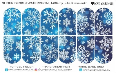 Blue snowflakes 1-604