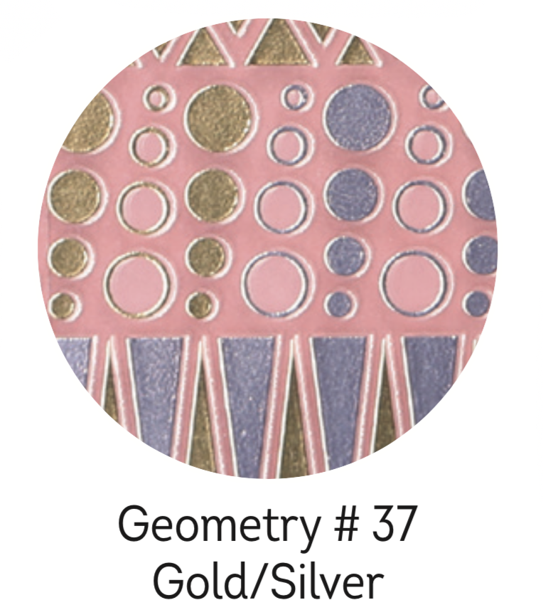 Charmicon Silicone Stickers #37 Geometry Gold/Silver