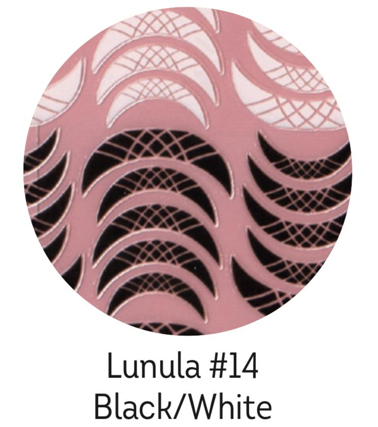 Charmicon Silicone Stickers Lunula #14 Black/White