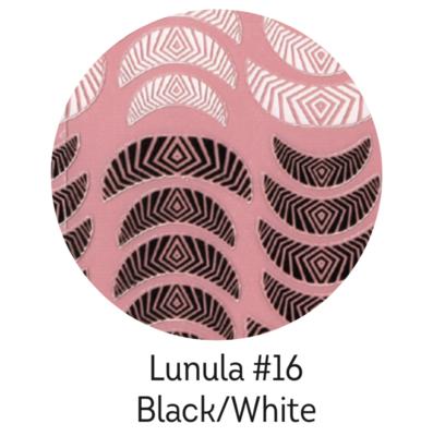 Charmicon Silicone Stickers Lunula #16 Black/White