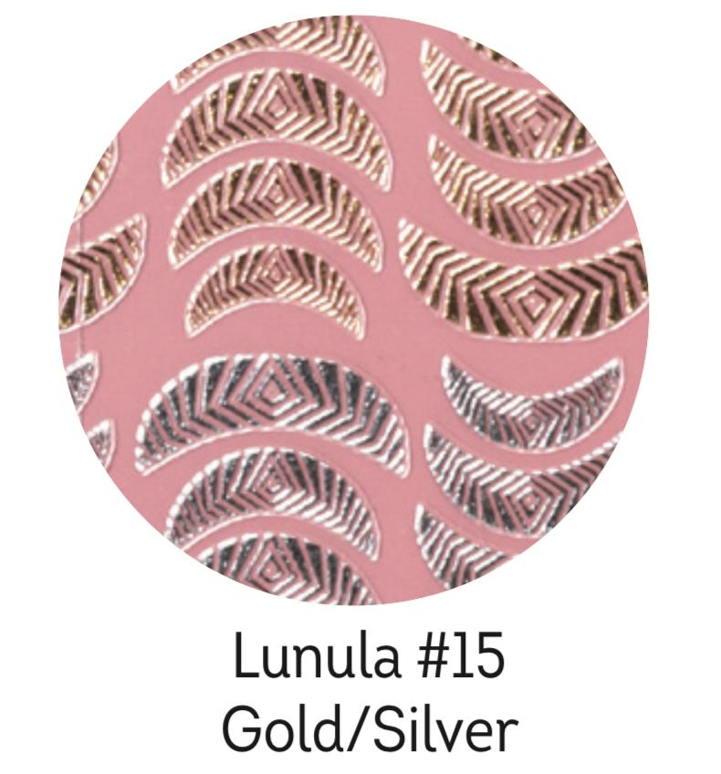 Charmicon Silicone Stickers Lunula #15 Gold/Silver