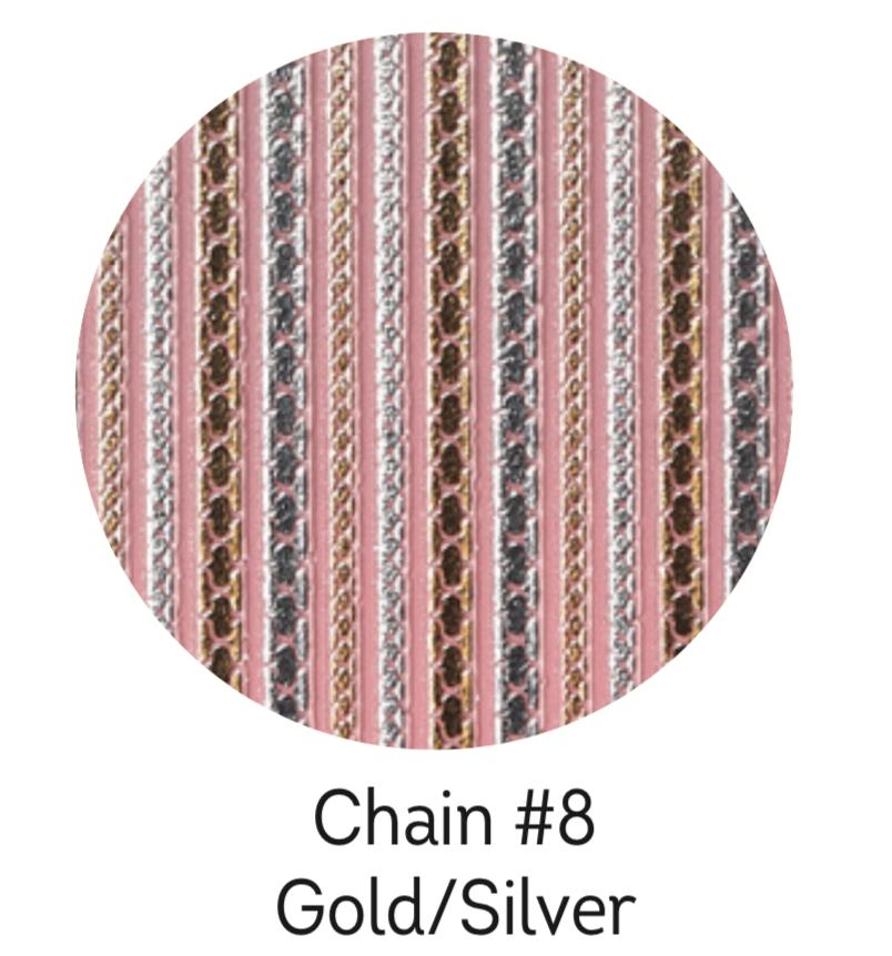 Charmicon Silicone Stickers Chain #8 Gold/Silver