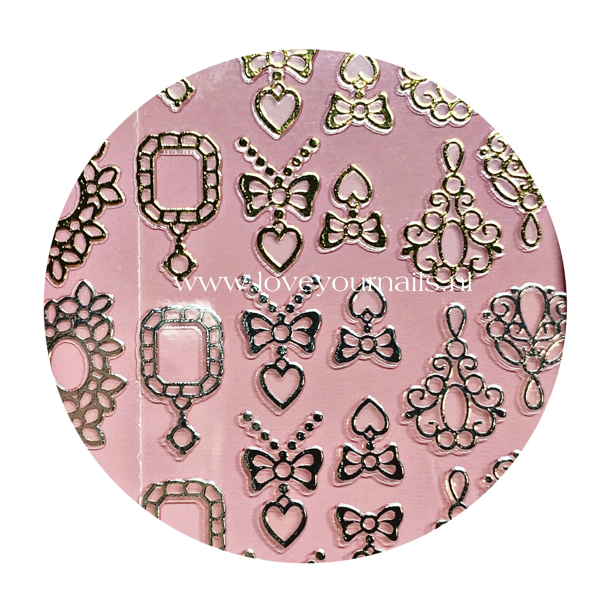Charmicon Silicone Stickers Jewelry Gold #4